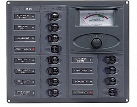 DC paneli sa analognim instrumentima